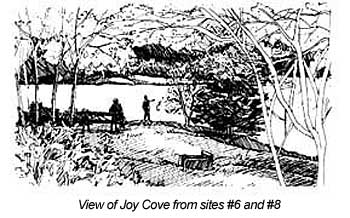 view of Joy Cove from sites 6 and 8